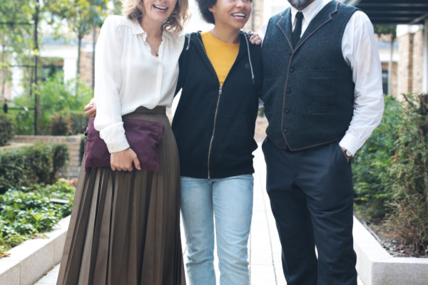 Actors Abigail Cruttenden, Kaitlyn Akinpelumi and Ricky Fearon. Photo by RELM Photography.