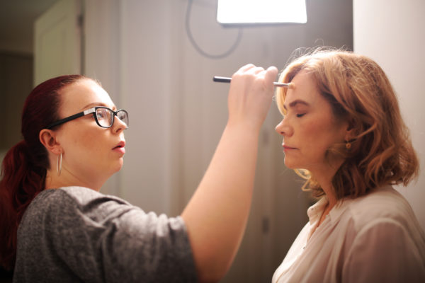 HMUA Rose Redrup and Actor Abigail Cruttenden. Photo by RELM Photography.