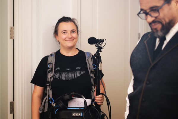 Sound Recordist Bridget Bradshaw and Actor Ricky Fearon. Photo by RELM Photography.
